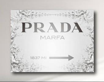 Prada Marfa Modern Canvas Print - Gossip Girl