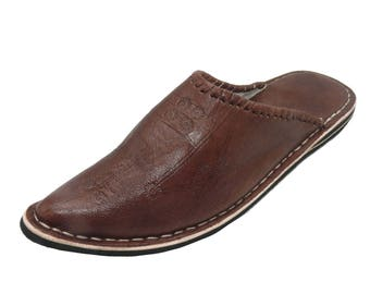 Oriental leather shoes Slippers slipper slippers-Men's