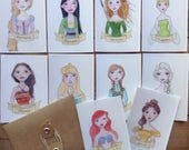Sticker Set- Princess Sticker Set - Disney Princess Sticker Set - Once Upon a Time Sticker Collection - 10 pc.