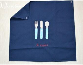 Customizable napkin to table! Midnight Blue