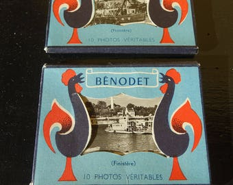 Bag of 10 mini pictures/old postcards - real Photos of Brittany - Bénodet/Anne