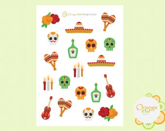 Day of the Dead Stickers, Planner Stickers