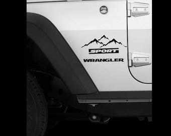 Mountain Range decal
