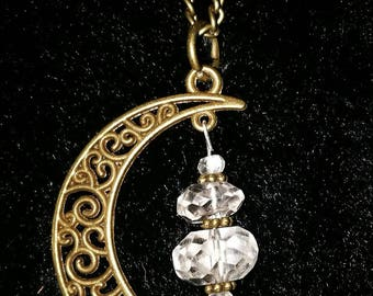 """Pendant """"Mountain crystal in the moon"""""""