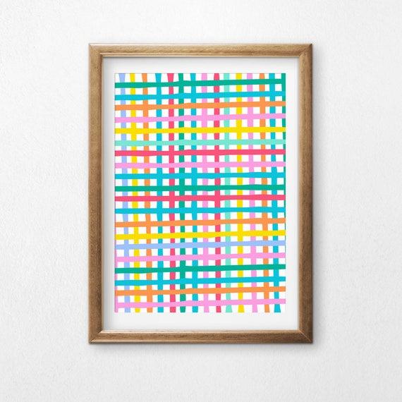 Printable Art, Multi Color Weave, Pattern, Modern Art, Minimalist Art, Art Printable, Home Decor, Digital Download Print
