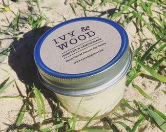 Coconut & Lemongrass Soy Candle in Mason Jar || Australia