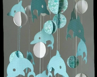 Beautiful hanging mobile Blue Dolphin