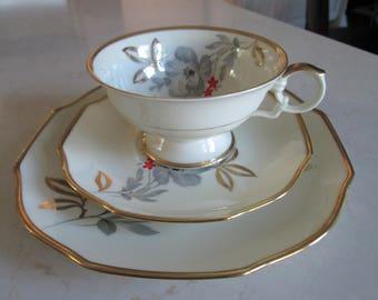 Eschenbach Bavaria Tea Cup, Saucer and Dessert Plate Trio