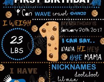 Cookie Monster Birthday Board