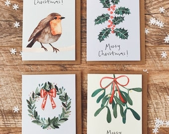 Colour Christmas Cards - Pack of 12