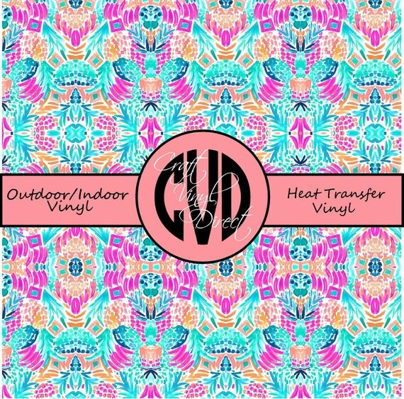 Beautiful Patterned Vinyl // Patterned / Printed Vinyl // Outdoor and Heat Transfer Vinyl // Pattern 704