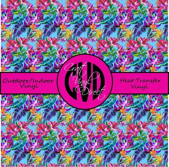 Tropical Patterned Vinyl // Patterned / Printed Vinyl // Outdoor and Heat Transfer Vinyl // Pattern 745
