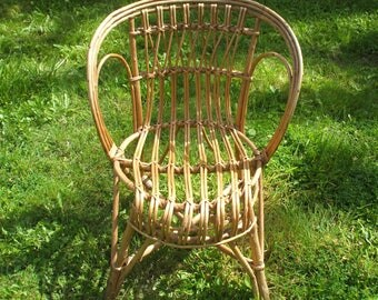 Vintage 60s Wicker Chair