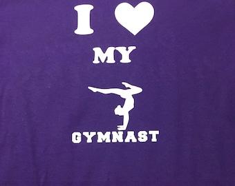 I Love My Gymnast T-Shirt