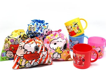 Snoopy Gift Bag  and  Mug - SET with 8 - Party Bag - Candies and Sweets