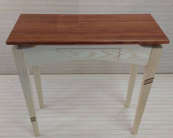 ash hall table with drawer