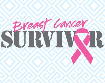 Breast Cancer Survivor SVG, Breast Cancer Awareness Digital File for Silhouette and Cricut, Pink Ribbon SVG, Breast Cancer SVG, 51luna