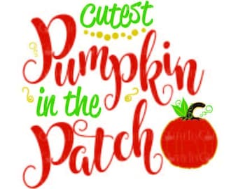 CUTEST Pumpkin in the Patch. Scalable vector. svg pdf dxf Vinyl cut file  Screen Printing Direct to garment