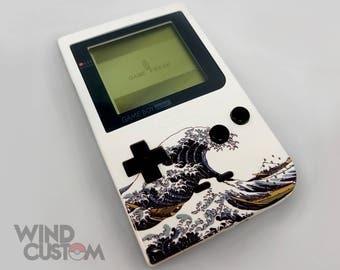 CUSTOMIZED JAPANESE Ukiyo-E Styled 1996 8-bit Gameboy Pocket : The Great Wave off Kanagawa