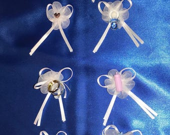 MINI SATIN BOW White Featuring Accents For All Occasions Sold In Sets Of 12