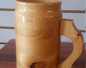 wooden beer stein , 24 oz.