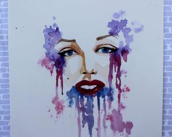 Marilyn Monroe inspired Decor Marilyn Monroe Art Marilyn Monroe Wall Art Marilyn Monroe Print Watercolor Art