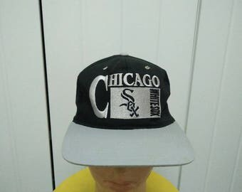 Rare Vintage CHICAGO WHITE SOX Big Logo Embroidered Spell Out Cap Hat Free size fit all