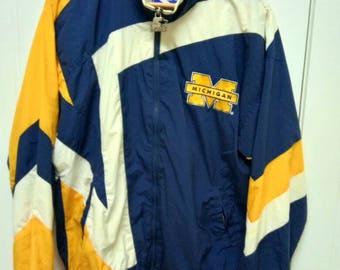 Rare Vintage Starter MICHIGAN WOLVERINE Colour Block Jacket Size S Small