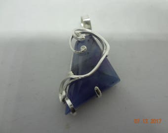 SUGILITE pendant in sterling silver 925- UNIQUE - FREE shipping