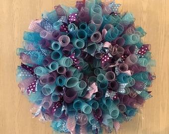 Blue/Purple Spiral Wreath
