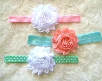 Flower baby headband, Baby headband