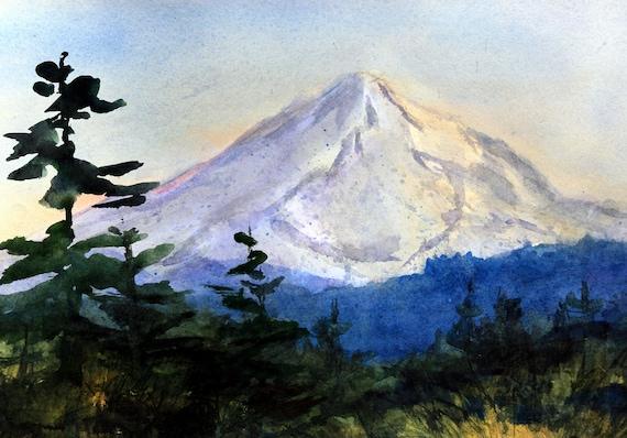 Mt. Hood 279 original watercolor painting by Bonnie White