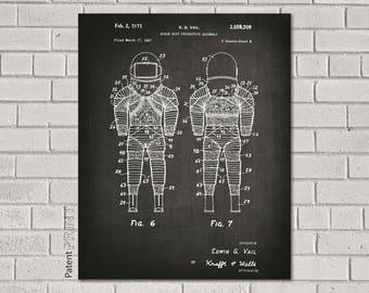 Astronaut Print, Astronaut Art, Space Print, Astronaut Poster, Space Suit, Astronaut Nursery, Space Nursery, Outer Space Decor, Nasa, CS209