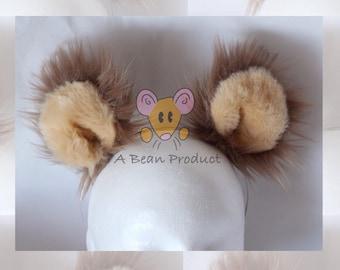Brown Teddy Bear Ears Ready to Ship