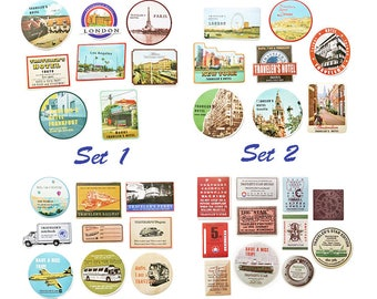 Retro Stickers, Travel, Decoration, Baggage, Stationery