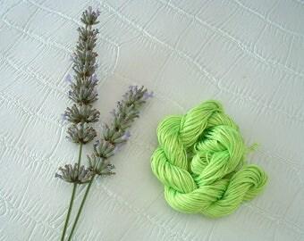 braided Nylon cord de1mm neon green 3 m