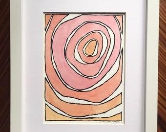 Abstract wall art, abstract watercolor, abstract painting, original art, watercolor painting, orange painting, orange watercolor