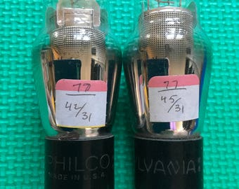 2 Type / Number 77 Vacuum Tubes
