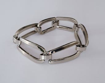 Taxco Sterling Silver Heavy Link Bracelet  // Made in Mexico