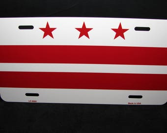 WASHINGTON DC FLAG Metal Novelty License Plate For Cars District Of Columbia