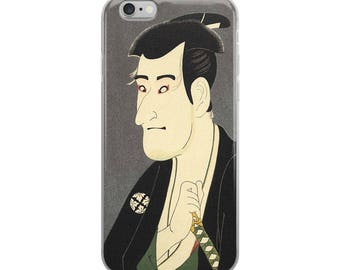 Japanese actor iPhone case, Asian woodblock print--great gift for actors, theater lovers!