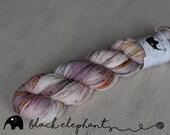 OOAK sock yarn superwash merino nylon contemporary 4 ply yarn speckled yarn pink grey orange green 100g