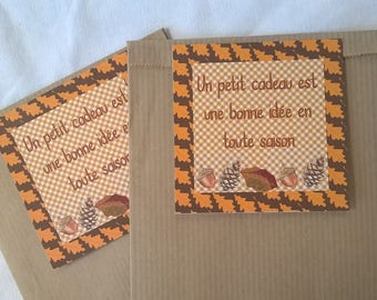 2 bags gift 21 x 12 autumn tags
