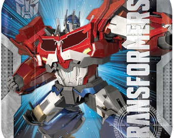 Transformers Dinner Plates [8ct] Birthday Party Supplies Tableware