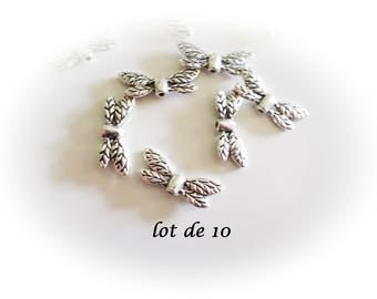 Set of 10 wings, silver, silver wings charms