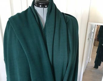 "Lush Forest Green Rayon Lycra Jersey Knit 4 1/2 yds 44"" wide -wrinkle resistant-pre-washed & dried free shipping"