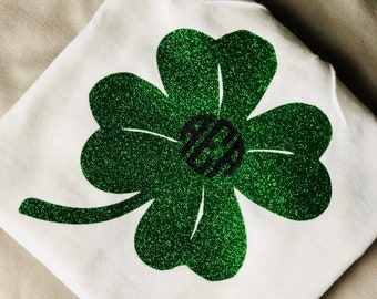 Shamrock T shirt with monogram ***TODAY ONLY***