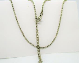 18 Inch Ball Chain, Necklace Chain, Charm Chain
