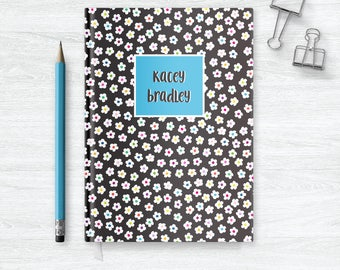 Flower Journal for Girls Personalized Gift for Niece, Floral Notebook Personalized Gifts for Girls Journal Floral Journal Cover