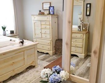 Cedar framed mirror